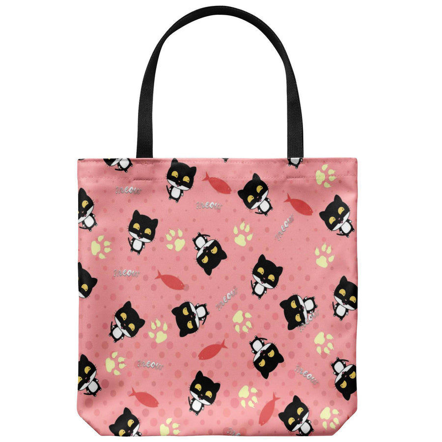 Black cat Tote Bag-Tote Bags-I love Veterinary