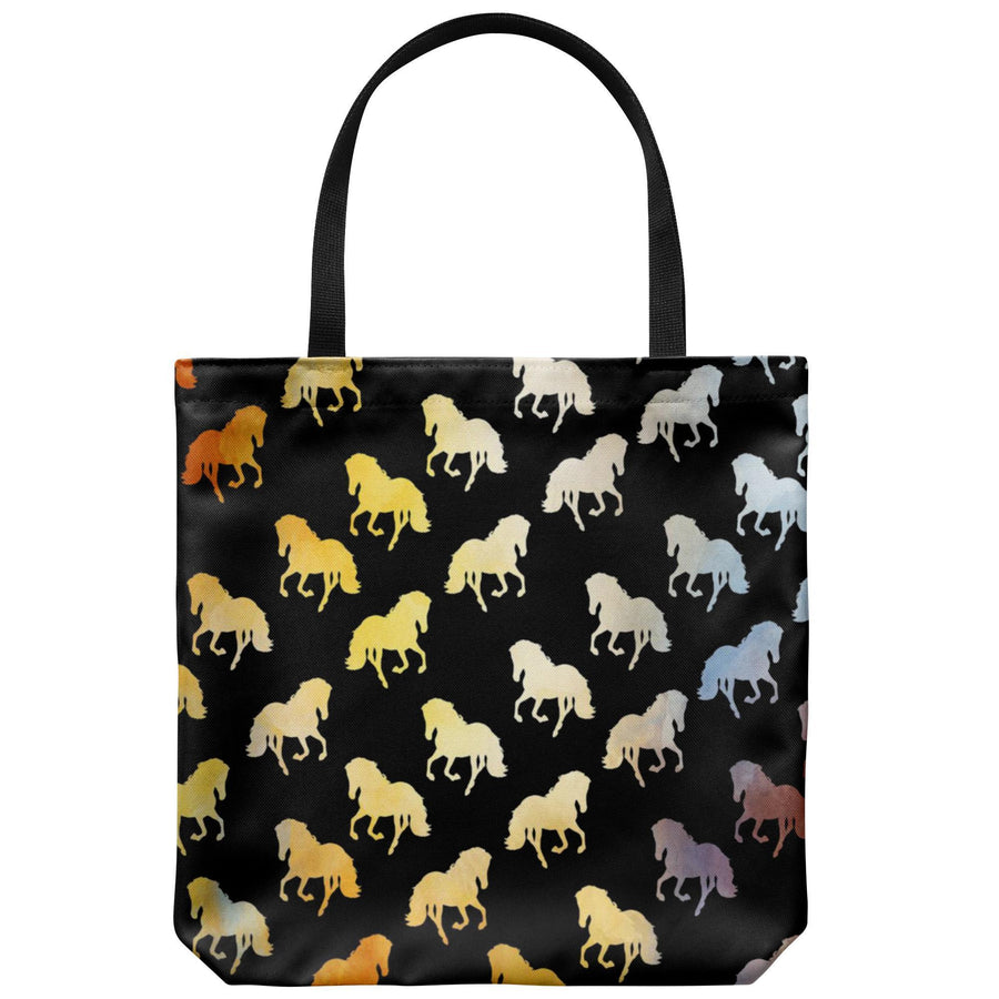 Golden Horses Tote Bag-Tote Bags-I love Veterinary