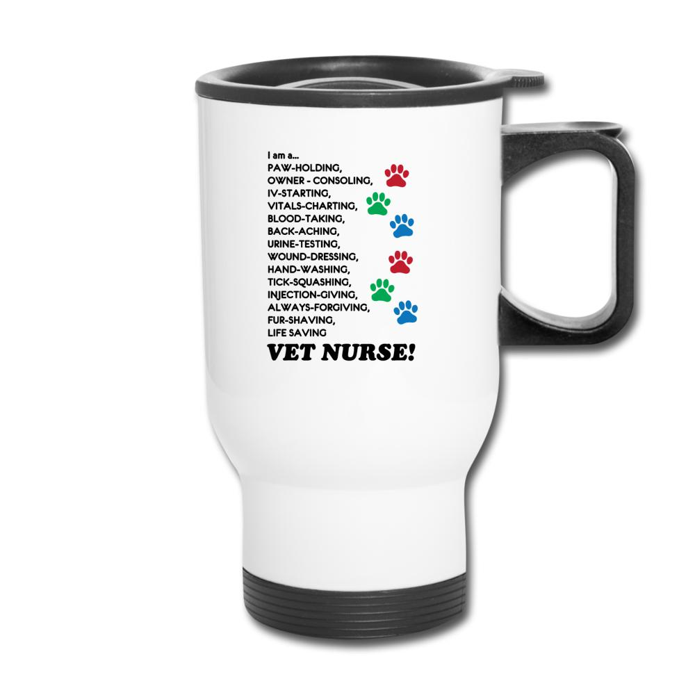 I am a... Vet nurse 14oz Travel Mug-Travel Mug-I love Veterinary