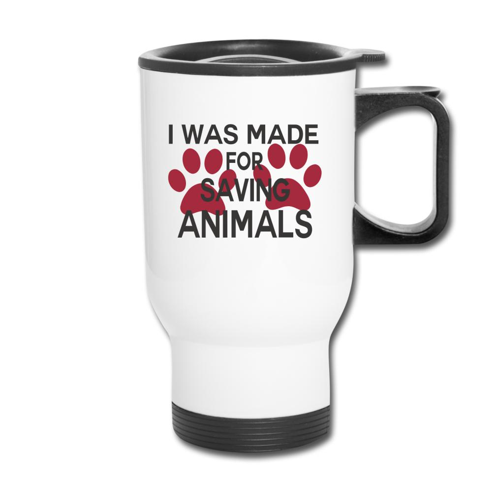 I was made for saving animals 14oz Travel Mug-Travel Mug-I love Veterinary
