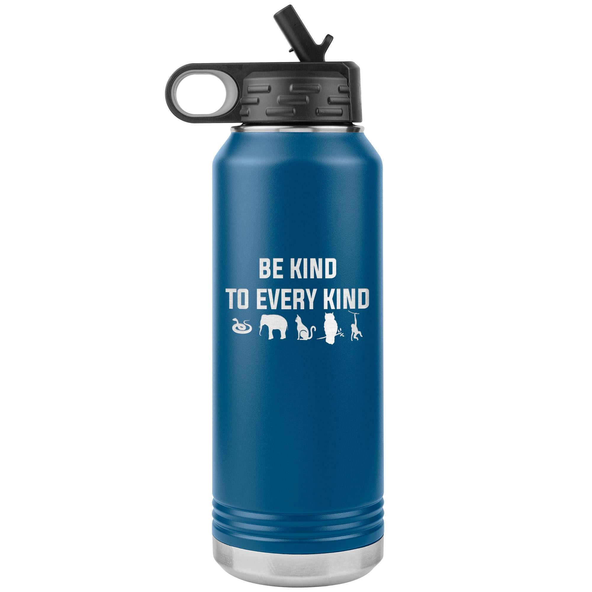Be kind to every kind Water Bottle Tumbler 32 oz-Tumblers-I love Veterinary