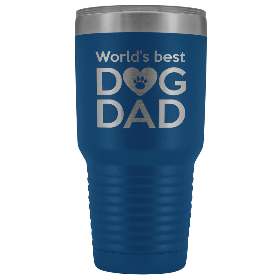 Dogs - World's best dog dad 30oz Vacuum Tumbler-Tumblers-I love Veterinary