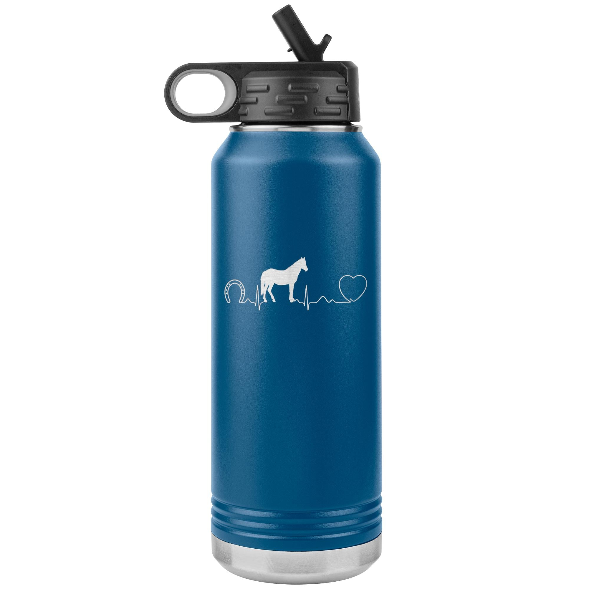 Horse pulse Water Bottle Tumbler 32 oz-Tumblers-I love Veterinary