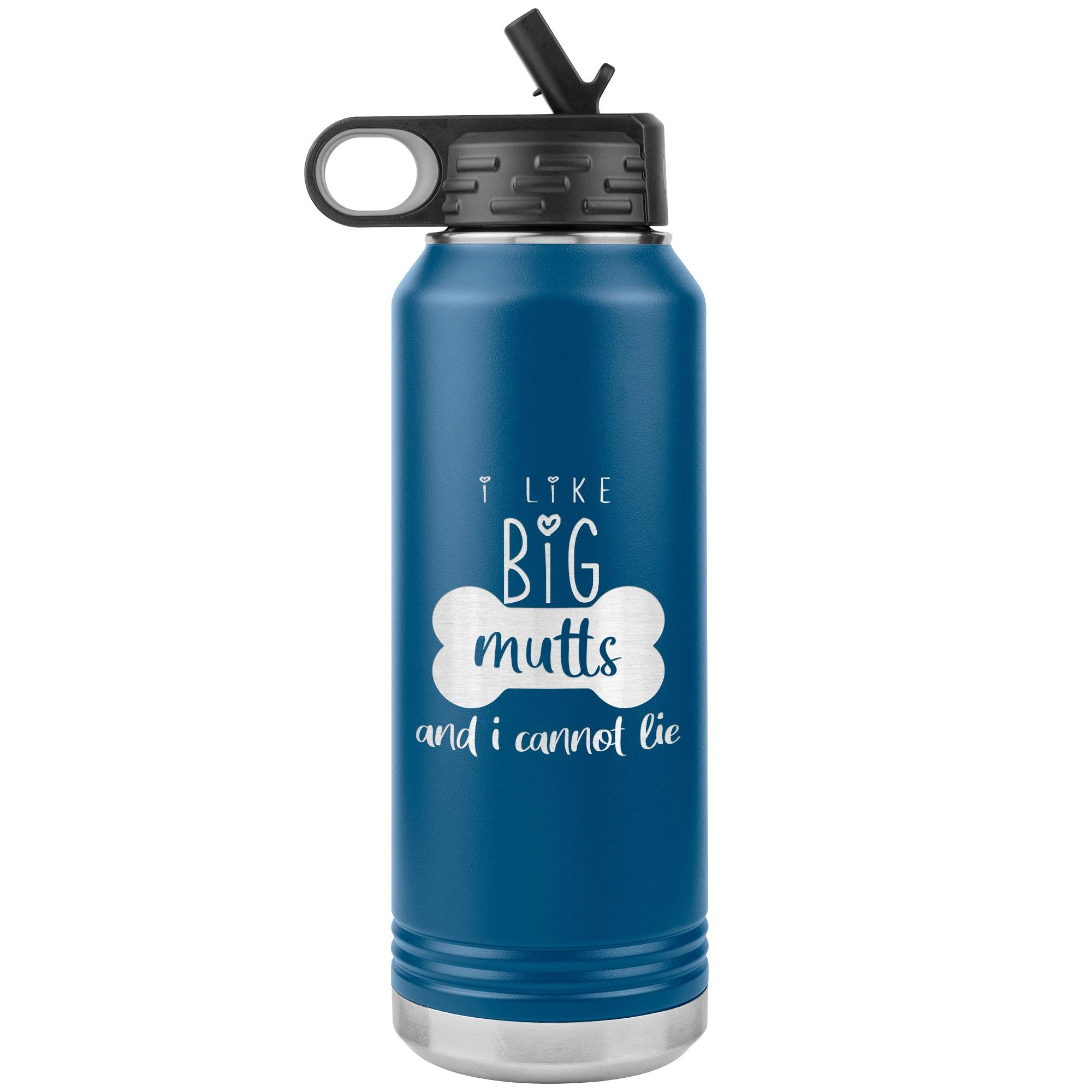 I Like big mutts Water Bottle Tumbler 32 oz-Tumblers-I love Veterinary