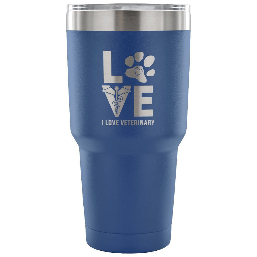 I Love Veterinary 30oz Vacuum Tumbler