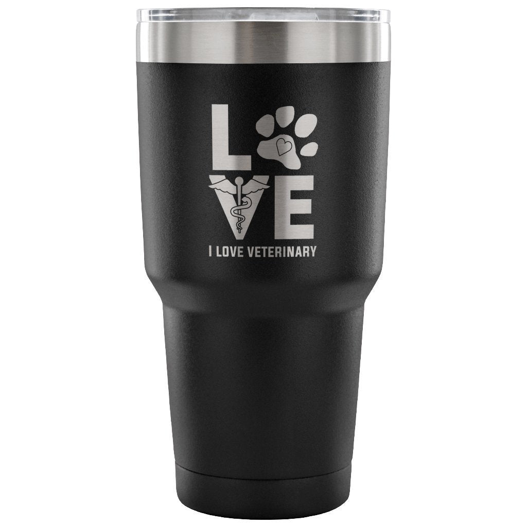 I Love Veterinary 30oz Vacuum Tumbler-Tumblers-I love Veterinary