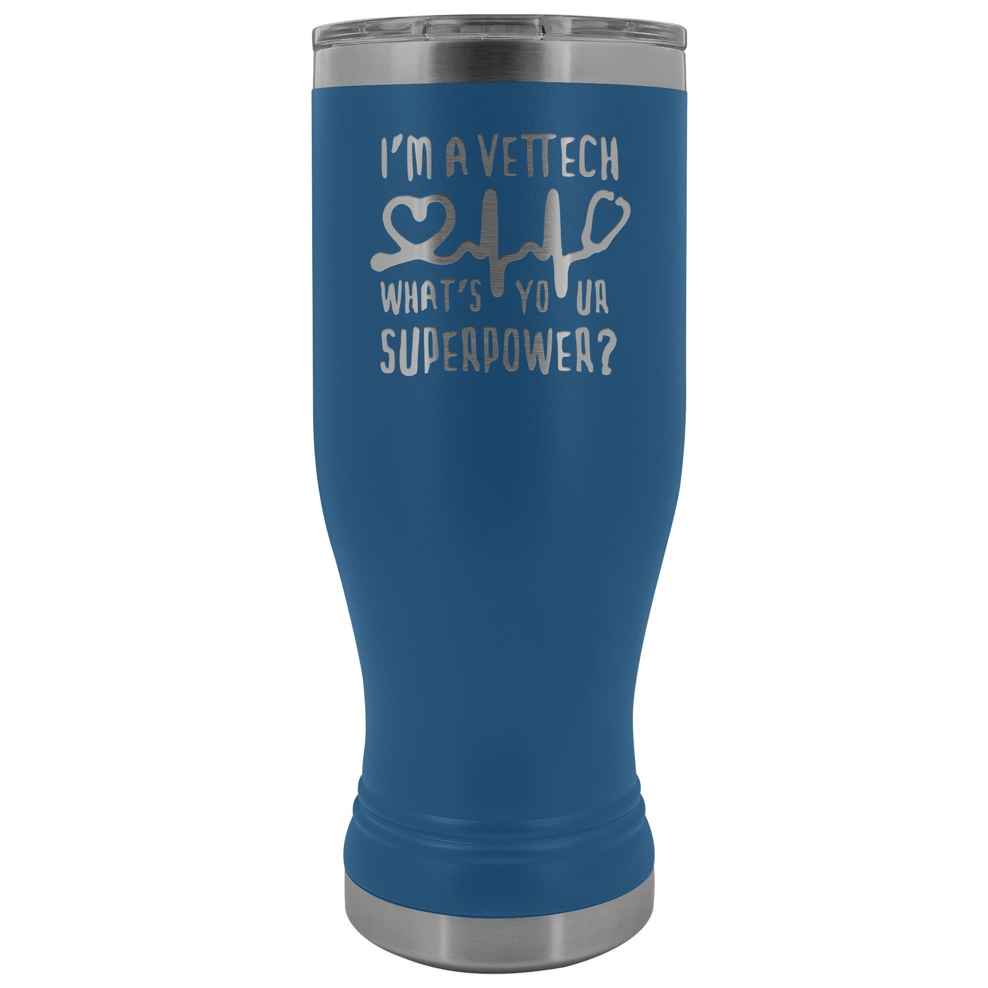 I'm a vet tech, what's your superpower? 20oz BOHO Vacuum Tumbler-Tumblers-I love Veterinary