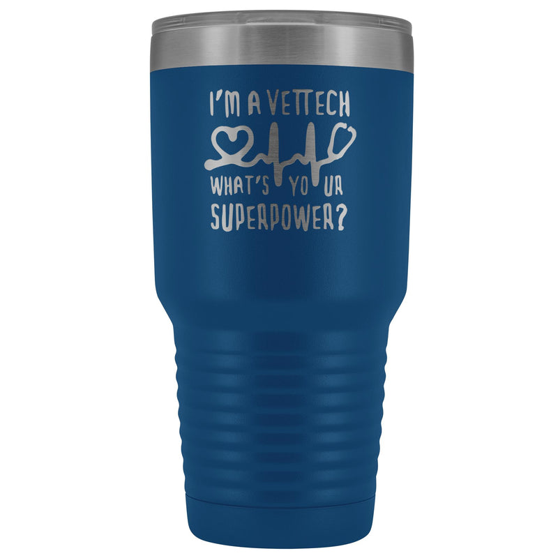 I'm a vet tech, what's your superpower? 30oz Vacuum Tumbler-Tumblers-I love Veterinary