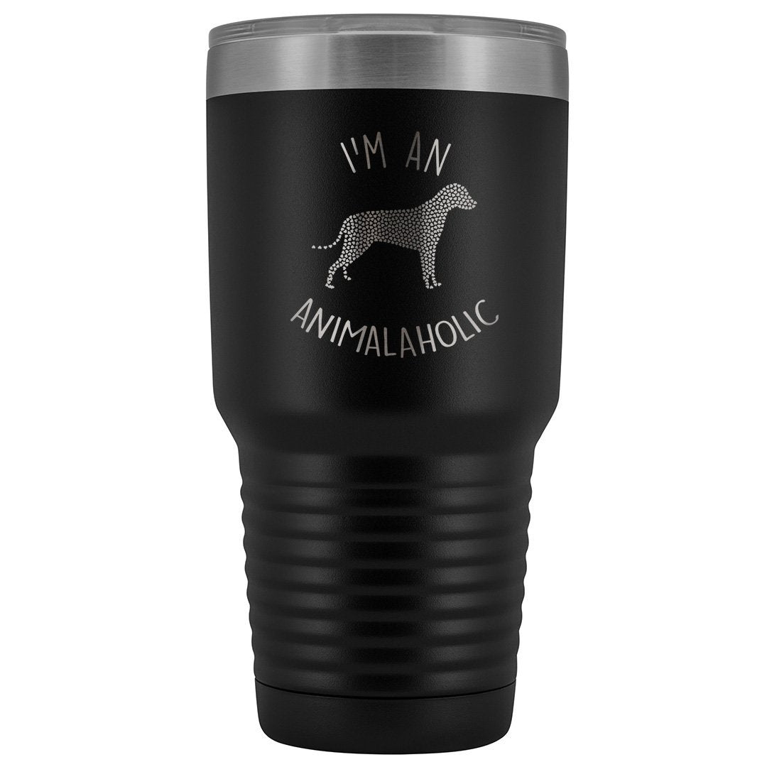 I'm an animalaholic 30oz Vacuum Tumbler-Tumblers-I love Veterinary