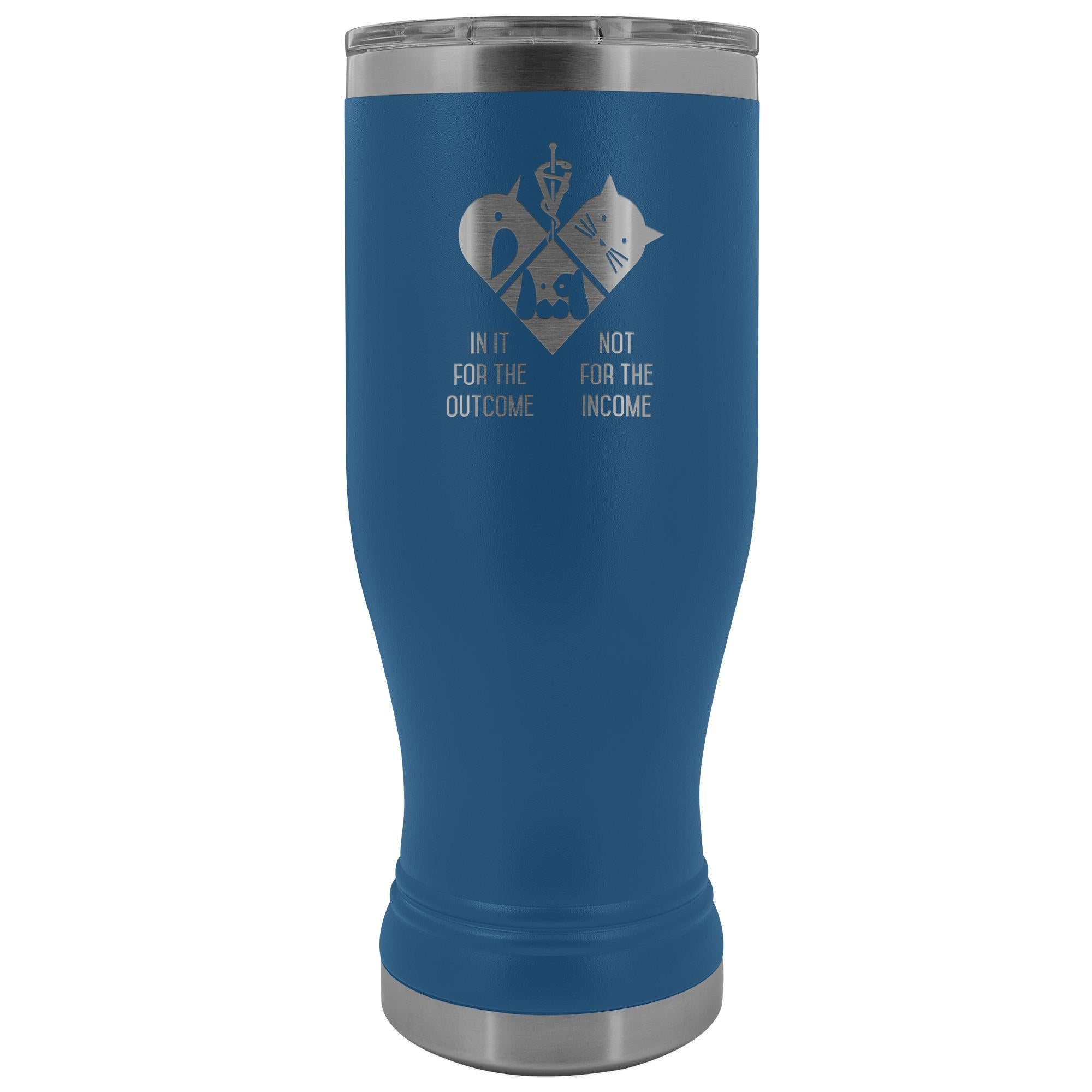 In it for the outcome, not for the income 20oz BOHO Vacuum Tumbler-Tumblers-I love Veterinary