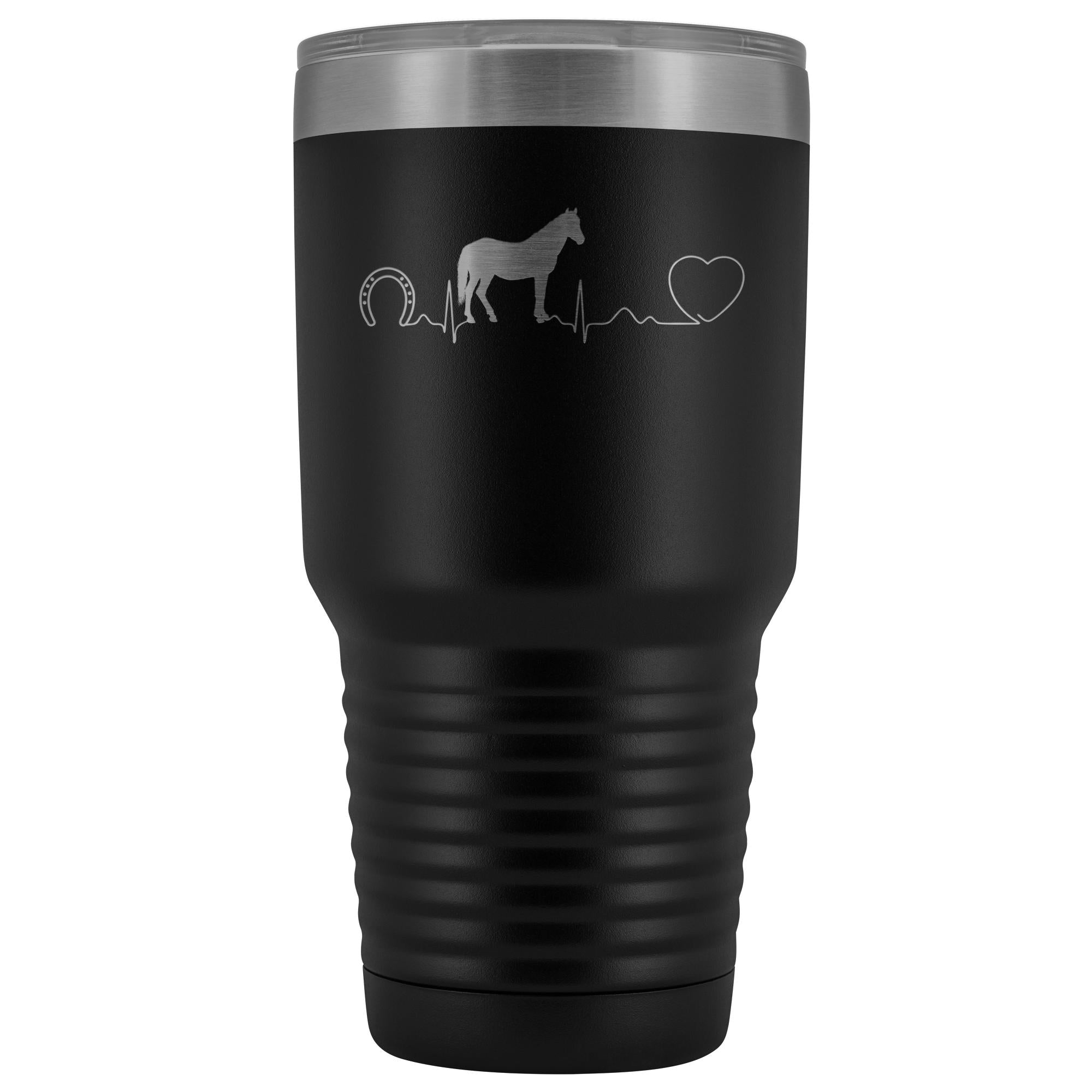Large Animal Vet- Horse pulse 30oz Vacuum Tumbler-Tumblers-I love Veterinary