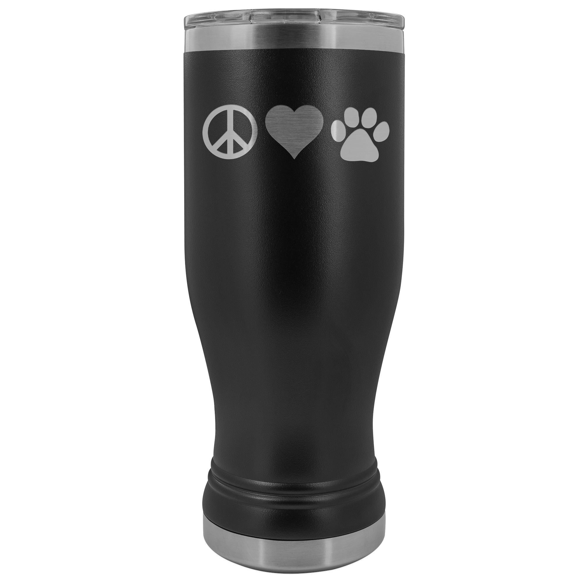 Peace, love, paws 20oz BOHO Vacuum Tumbler-Tumblers-I love Veterinary