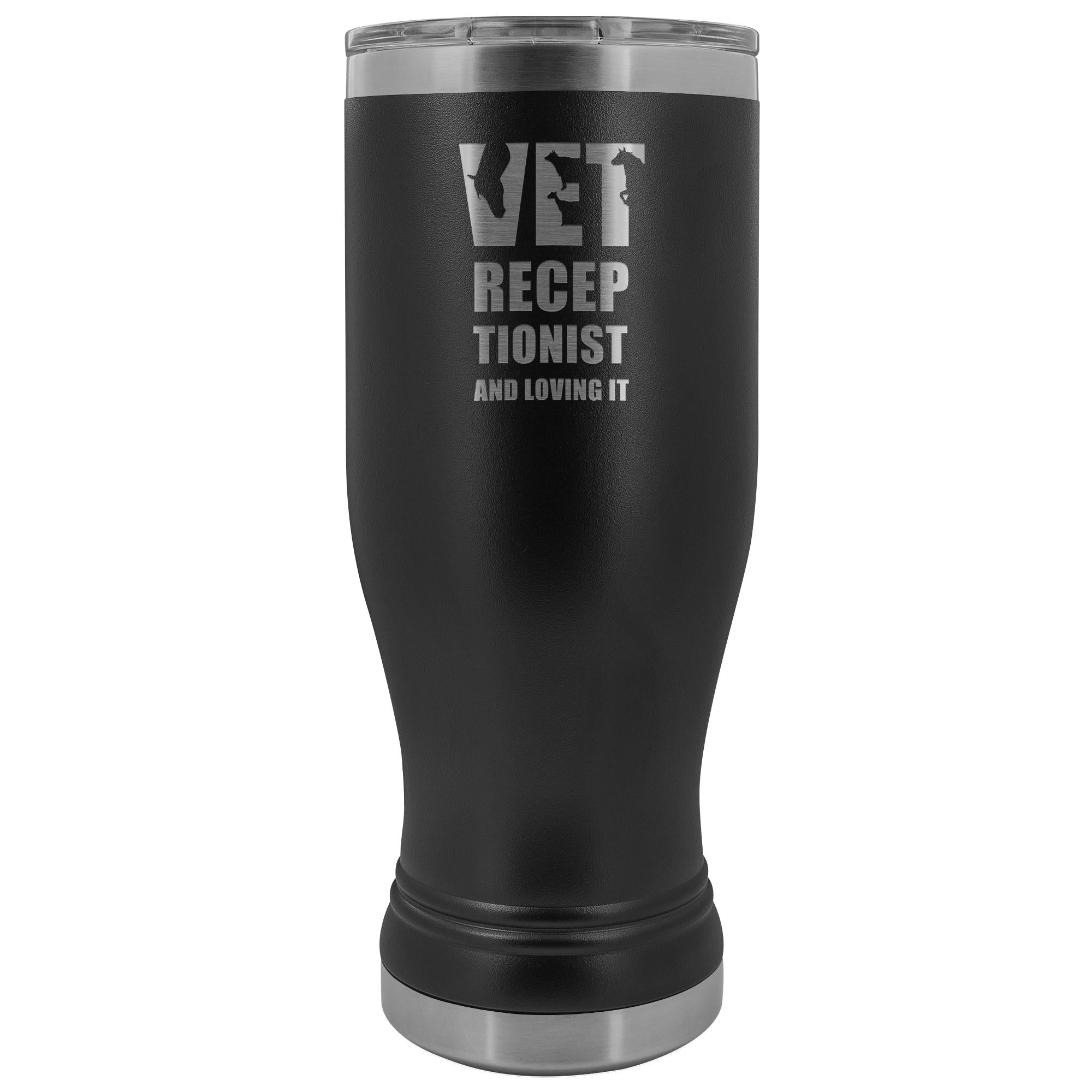 Vet Receptionist- Vet receptionists and loving it 20oz BOHO Vacuum Tumbler-Tumblers-I love Veterinary