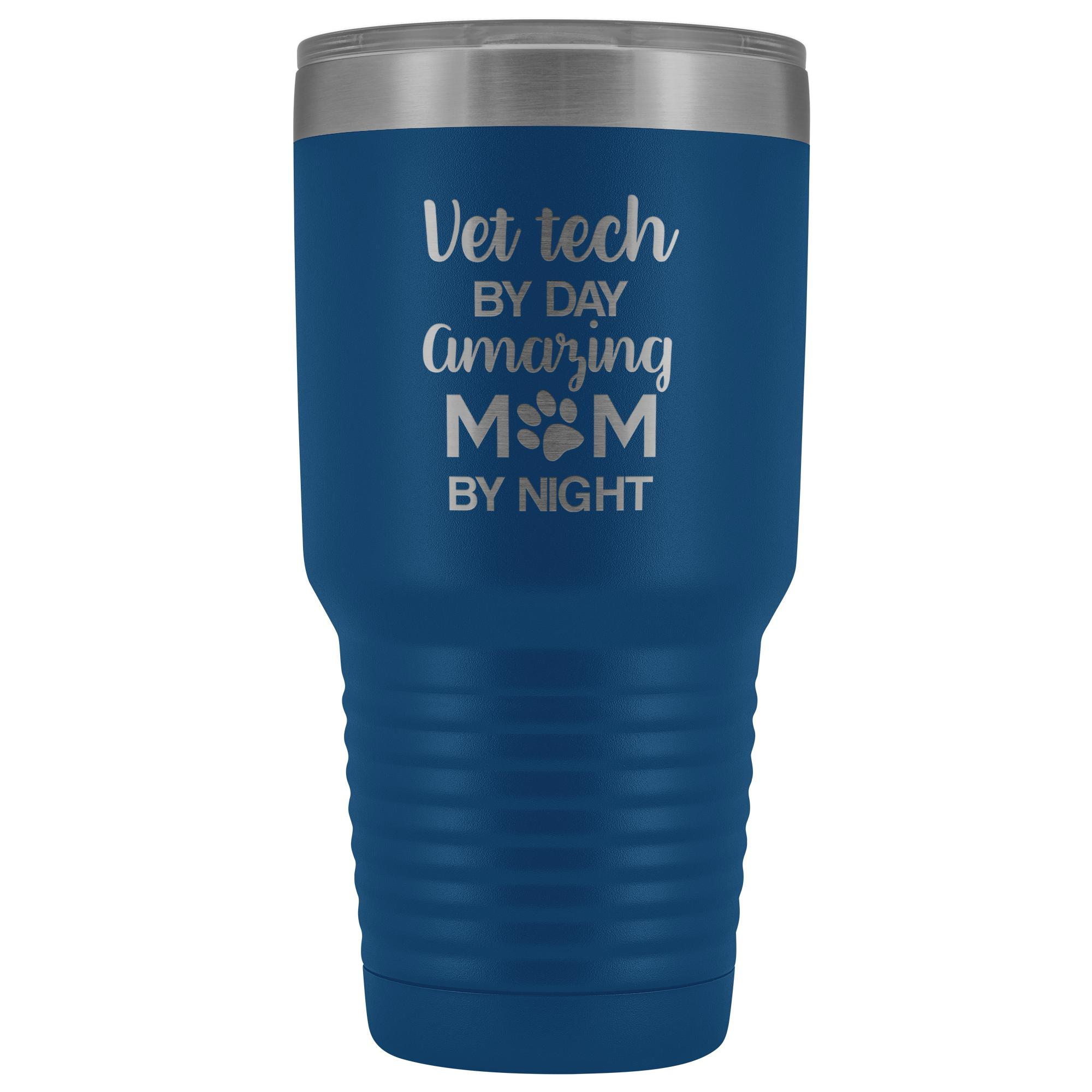 Vet Tech - Amazing Mom 30oz Vacuum Tumbler-Tumblers-I love Veterinary