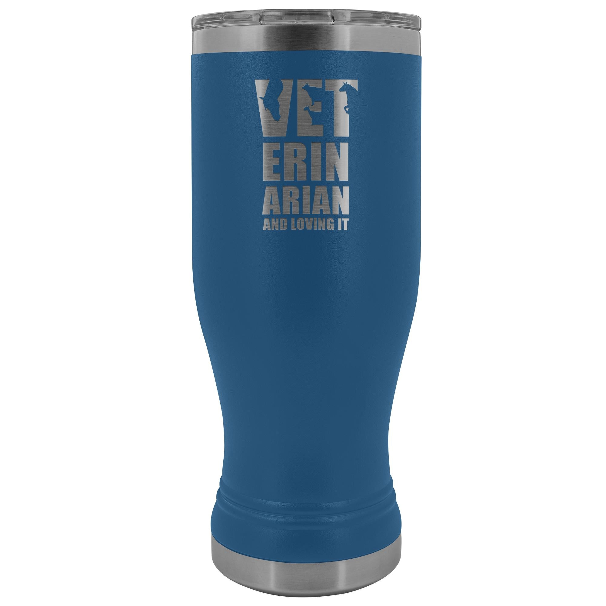 Veterinarian- Veterinarian and loving it 20oz BOHO Vacuum Tumbler-Tumblers-I love Veterinary