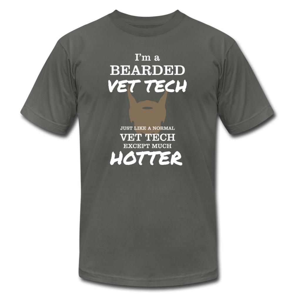 Vet Tech- I'm a bearded vet tech Unisex Jersey T-Shirt by Bella + Canvas-Unisex Jersey T-Shirt by Bella + Canvas-I love Veterinary