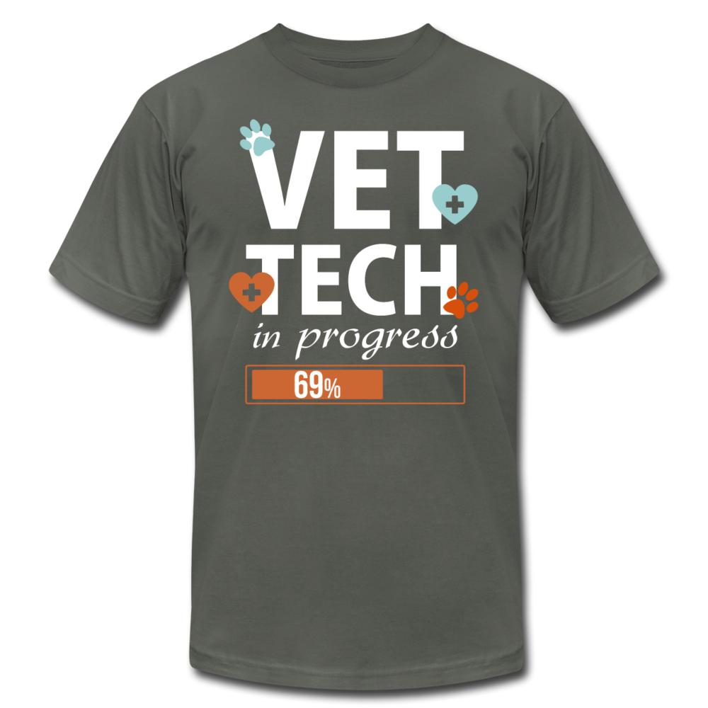 Vet Tech-In Progress Unisex Jersey T-Shirt by Bella + Canvas-Unisex Jersey T-Shirt by Bella + Canvas-I love Veterinary