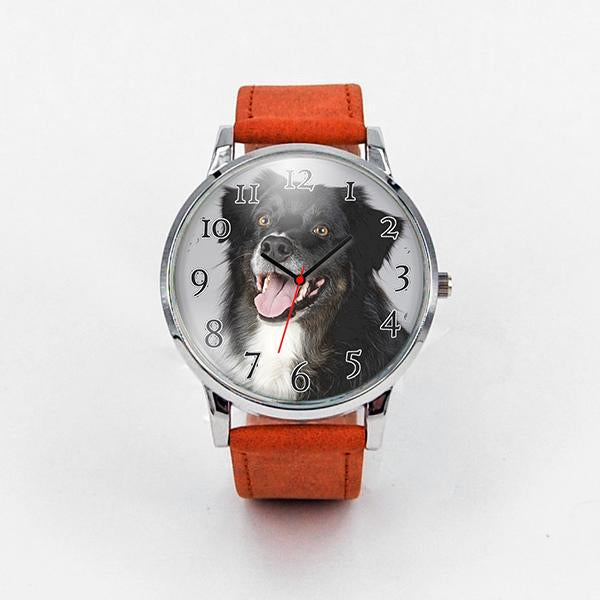 Custom Wrist Watch with a Photo of Your Pet-Watch-I love Veterinary