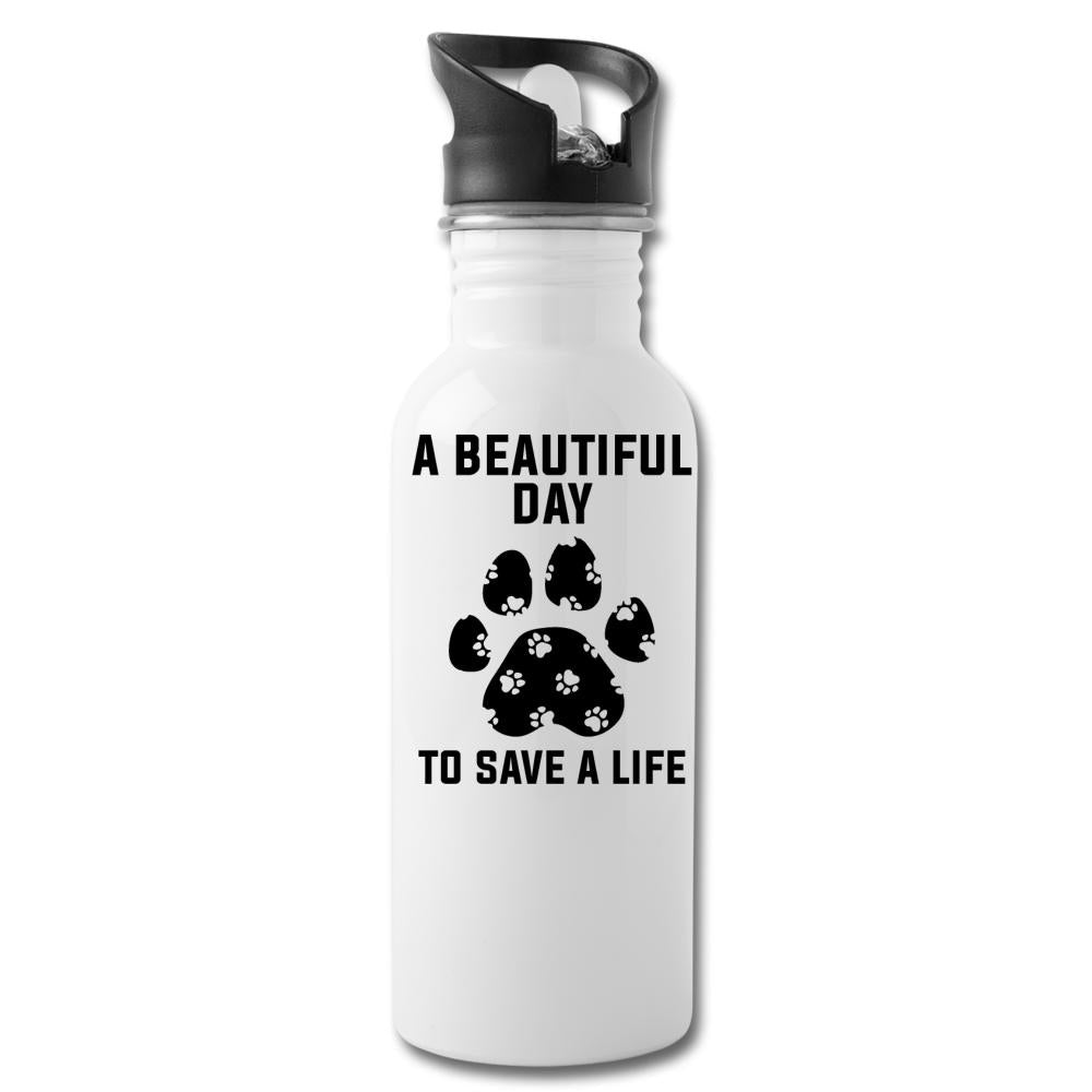 A beautiful day to save a life 20oz Water Bottle-Water Bottle-I love Veterinary