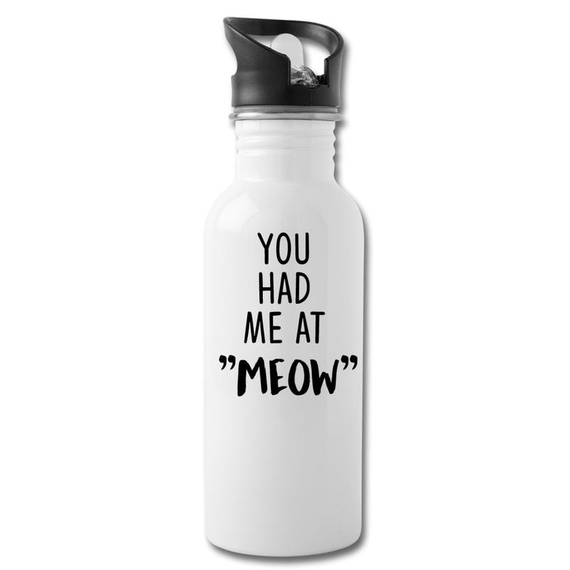 "Cats - You had me at ""meow"" 20oz Water Bottle-Water Bottle-I love Veterinary"