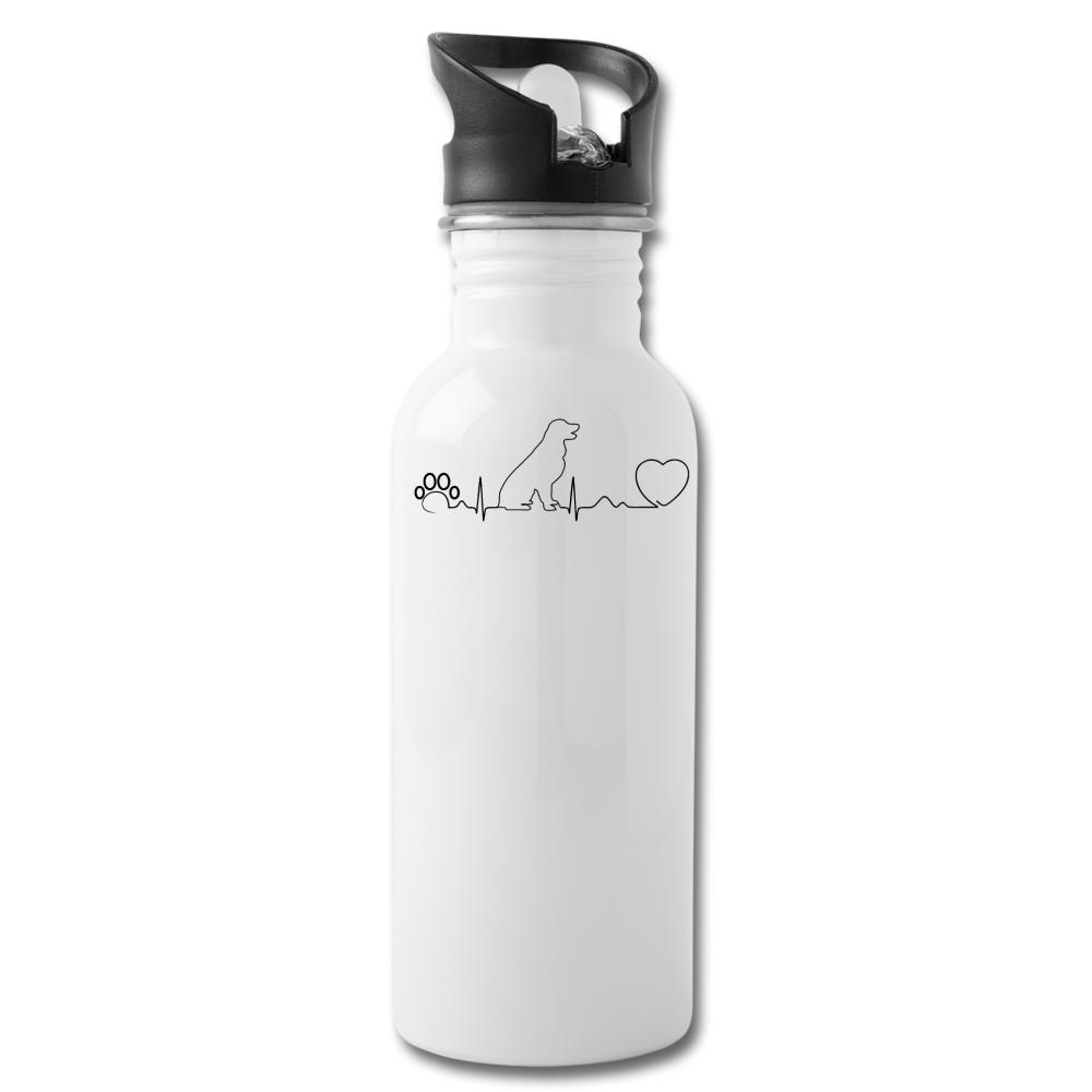 Dog heartbeat 20oz Water Bottle-Water Bottle-I love Veterinary