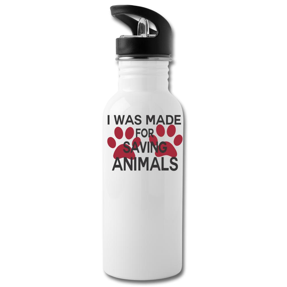 I was made for saving animals 20oz Water Bottle-Water Bottle-I love Veterinary