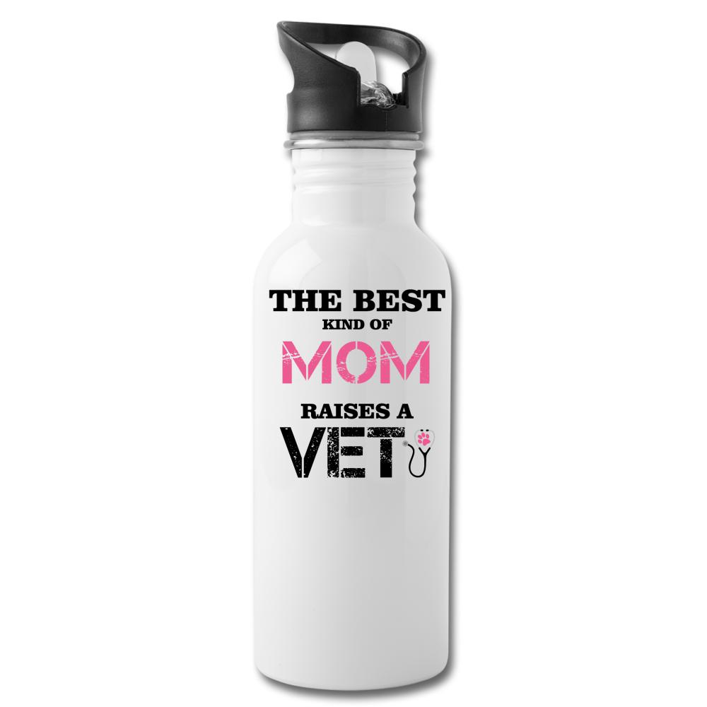The best kind of Mom raises a Veterinarian 20oz Water Bottle-Water Bottle-I love Veterinary