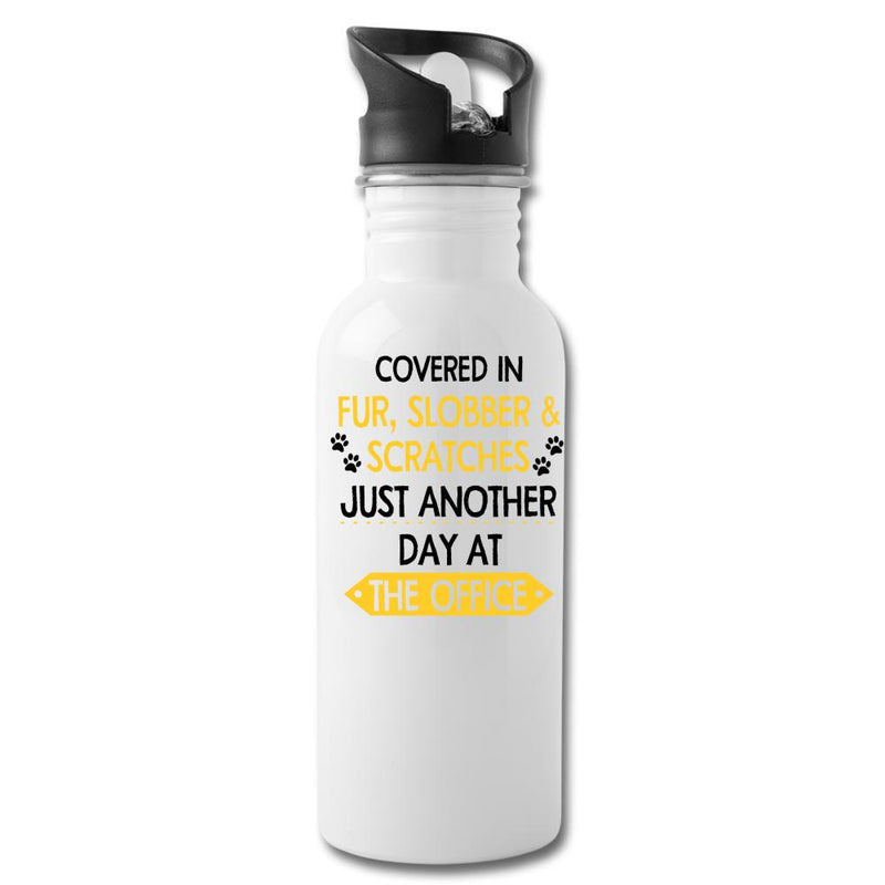 Veterinary - Fur, Slobber, Scratches 20oz Water Bottle-Water Bottle-I love Veterinary