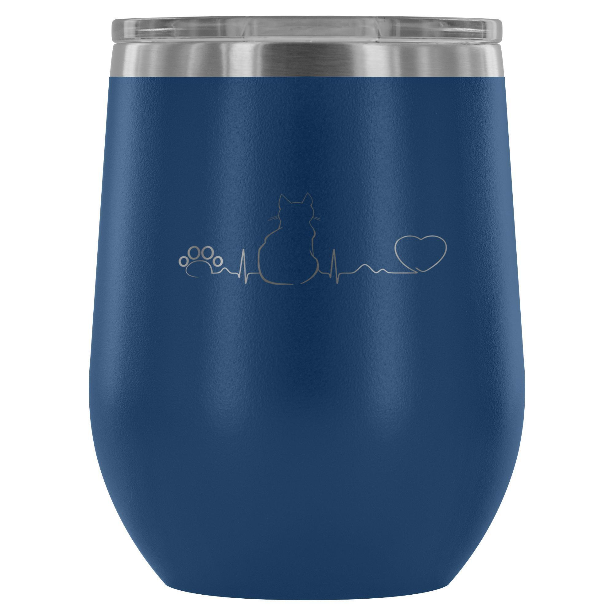 Cat Pulse 12oz Wine Tumbler