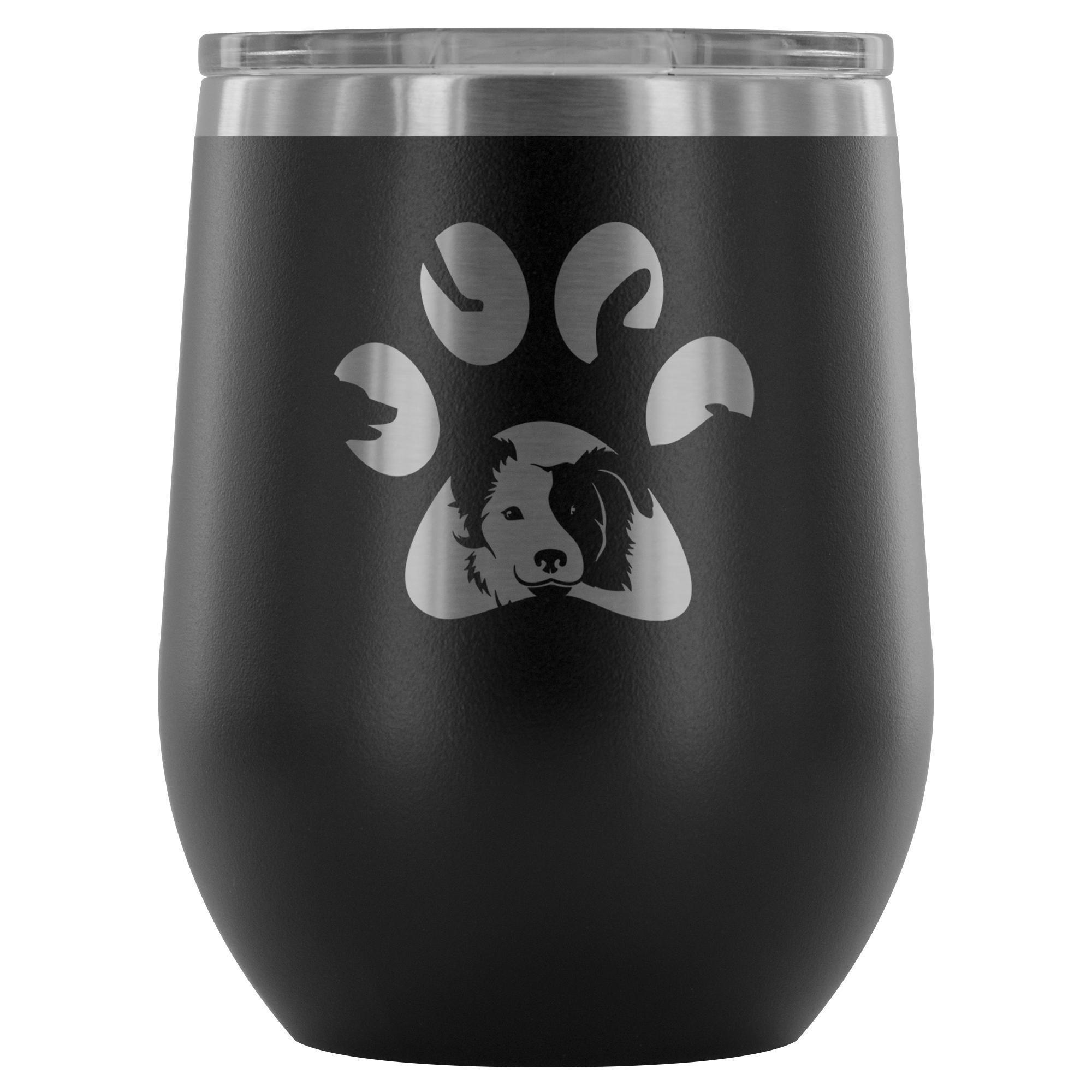 Dog Pawprint 12oz Wine Tumbler
