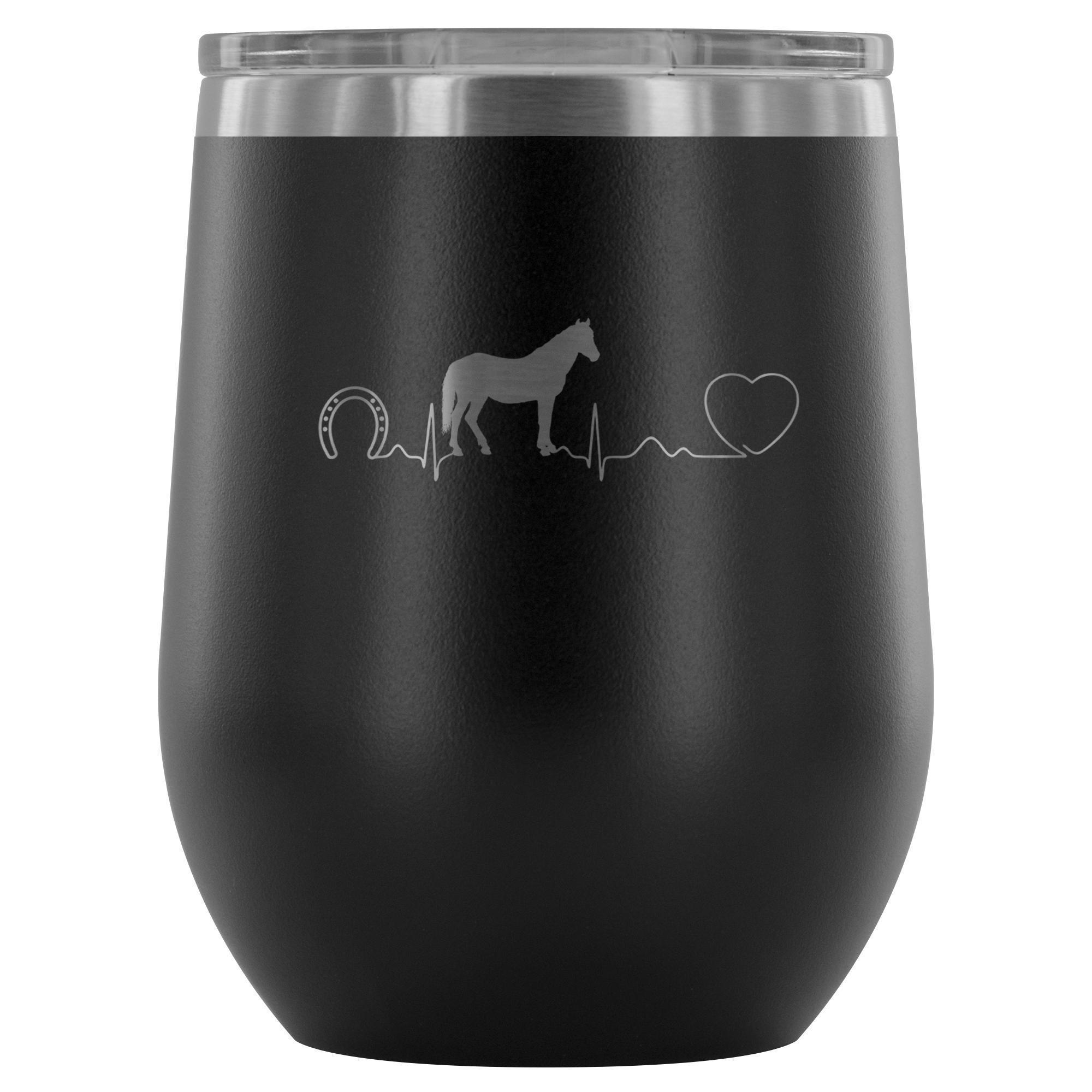 Horse pulse 12oz Wine Tumbler