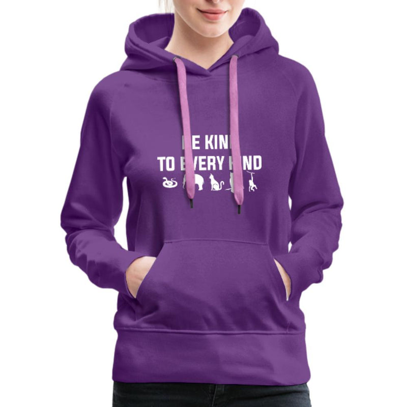 Be kind to every kind Women's Premium Hoodie-Women's Premium Hoodie-I love Veterinary