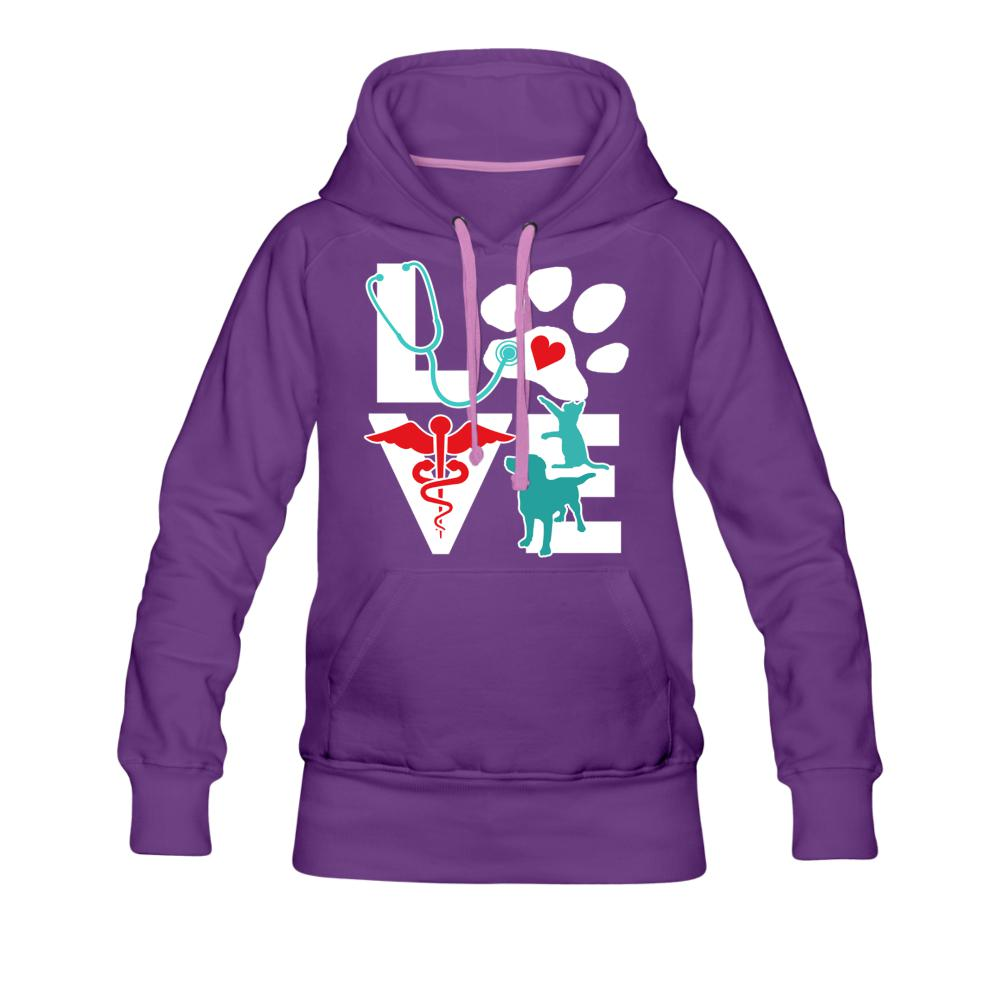 Veterinary Love Dog and Cat Women's Premium Hoodie-Women's Premium Hoodie-I love Veterinary