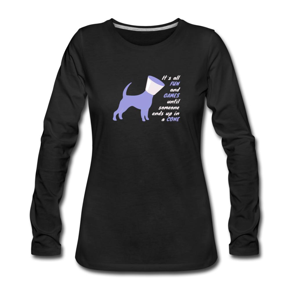 Until someone ends up in a cone Women's Premium Long Sleeve T-Shirt-Women's Premium Long Sleeve T-Shirt-I love Veterinary