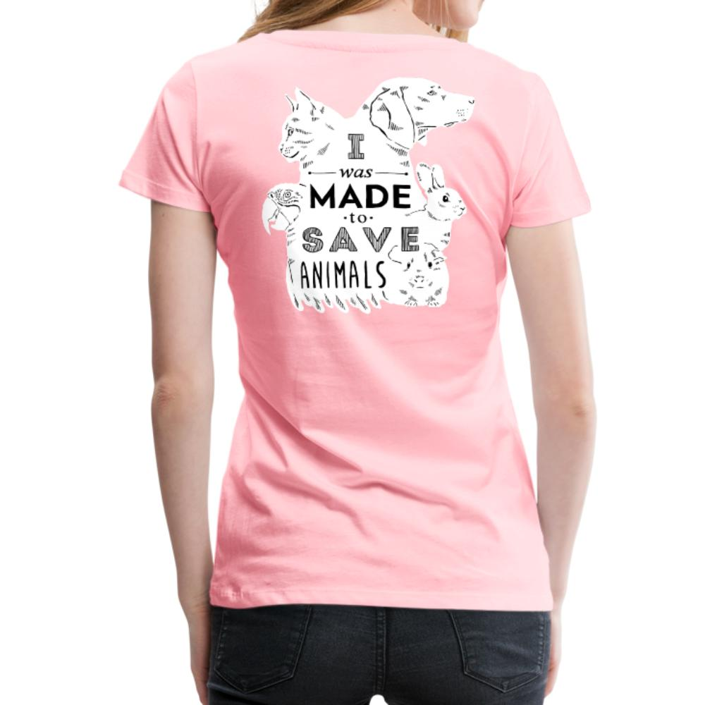 I was made to save animals Back Print Women's Premium T-Shirt-Women's Premium T-Shirt | Spreadshirt 813-I love Veterinary