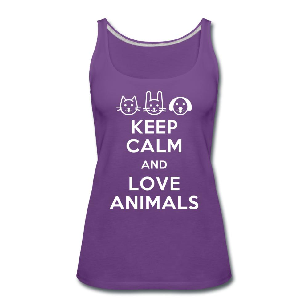 Keep calm and love animals Women's Tank Top-Women's Premium Tank Top | Spreadshirt 917-I love Veterinary