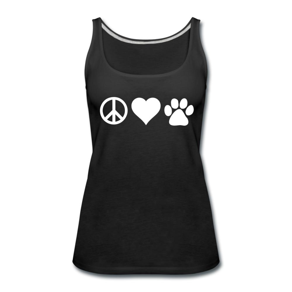 Peace, love, paws Women's Tank Top-Women's Premium Tank Top | Spreadshirt 917-I love Veterinary