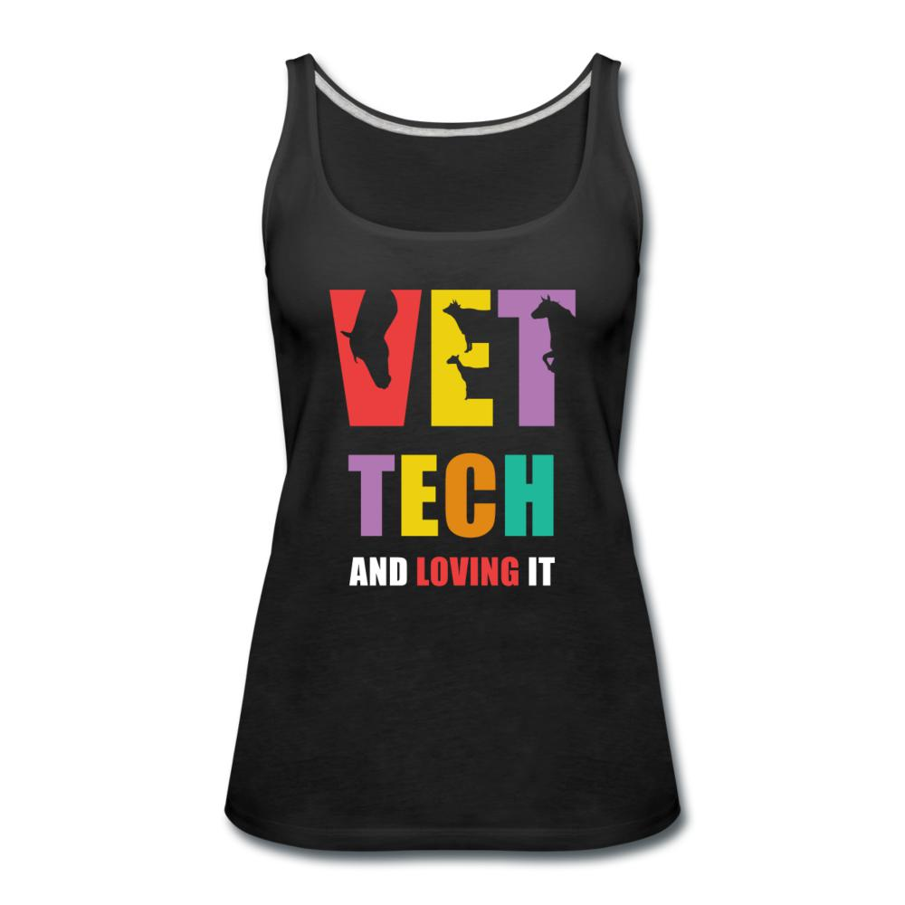 Vet tech and loving it Women's Tank Top-Women's Premium Tank Top | Spreadshirt 917-I love Veterinary