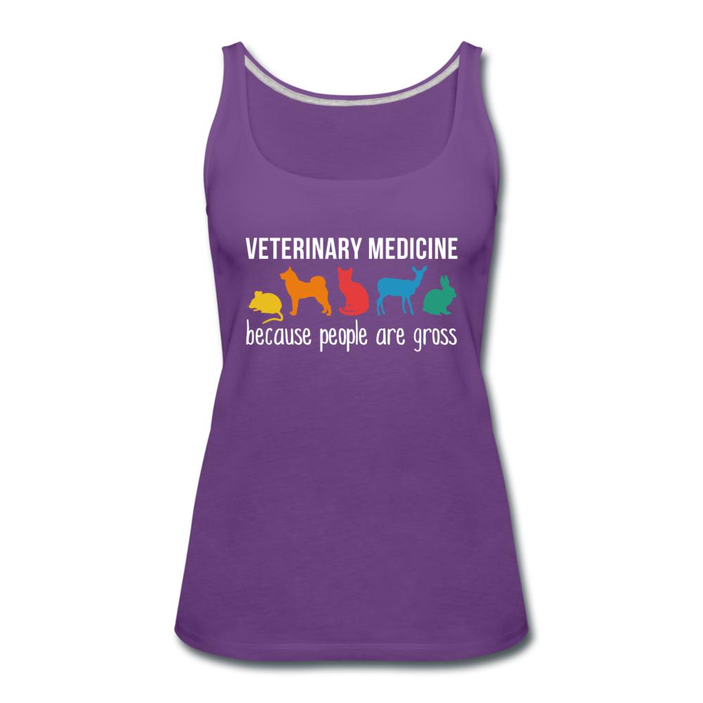 Veterinary medicine: because people are gross Women's Tank Top-Women's Premium Tank Top | Spreadshirt 917-I love Veterinary