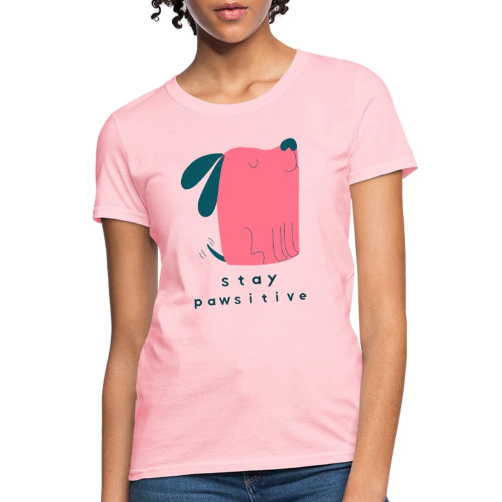 Veterinary - Stay Pawsitive Women's T-Shirt-Women's T-Shirt | Fruit of the Loom L3930R-I love Veterinary