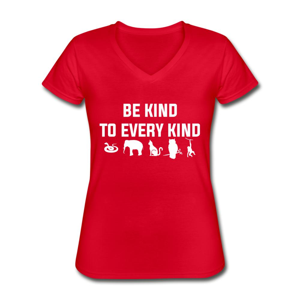 Be Kind to Every Kind Women's V-Neck T-Shirt-Women's V-Neck T-Shirt-I love Veterinary