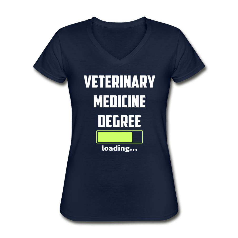 Veterinary medicine degree loading Women's V-Neck T-Shirt-Women's V-Neck T-Shirt-I love Veterinary