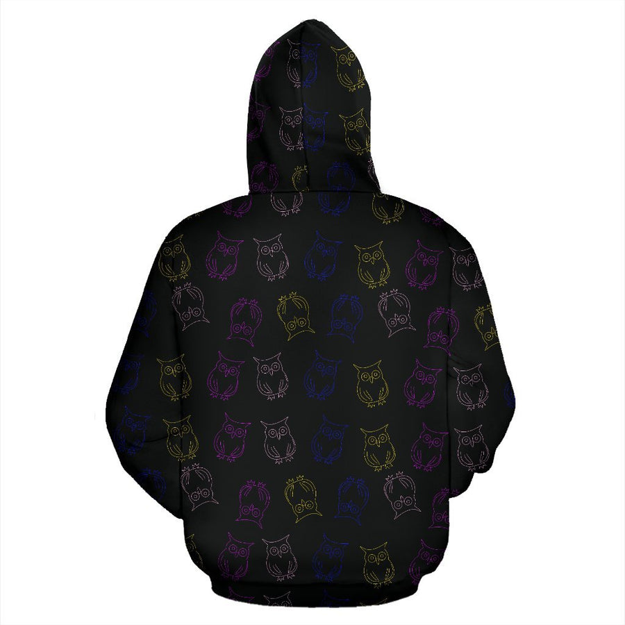 Colorful Owls Zip Hoodie-Zip Hoodie-I love Veterinary