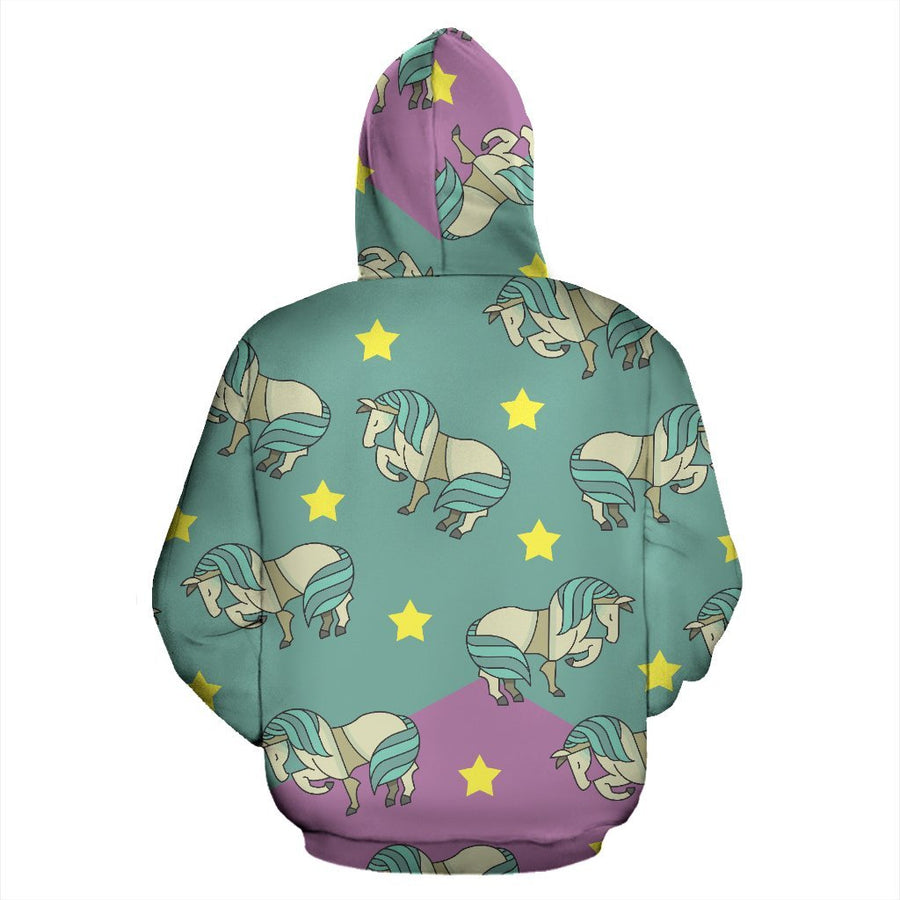Horses and Stars Zip Hoodie-Zip Hoodie-I love Veterinary