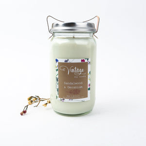 Vintage Fowlers Jar Large Soy Candles 600G