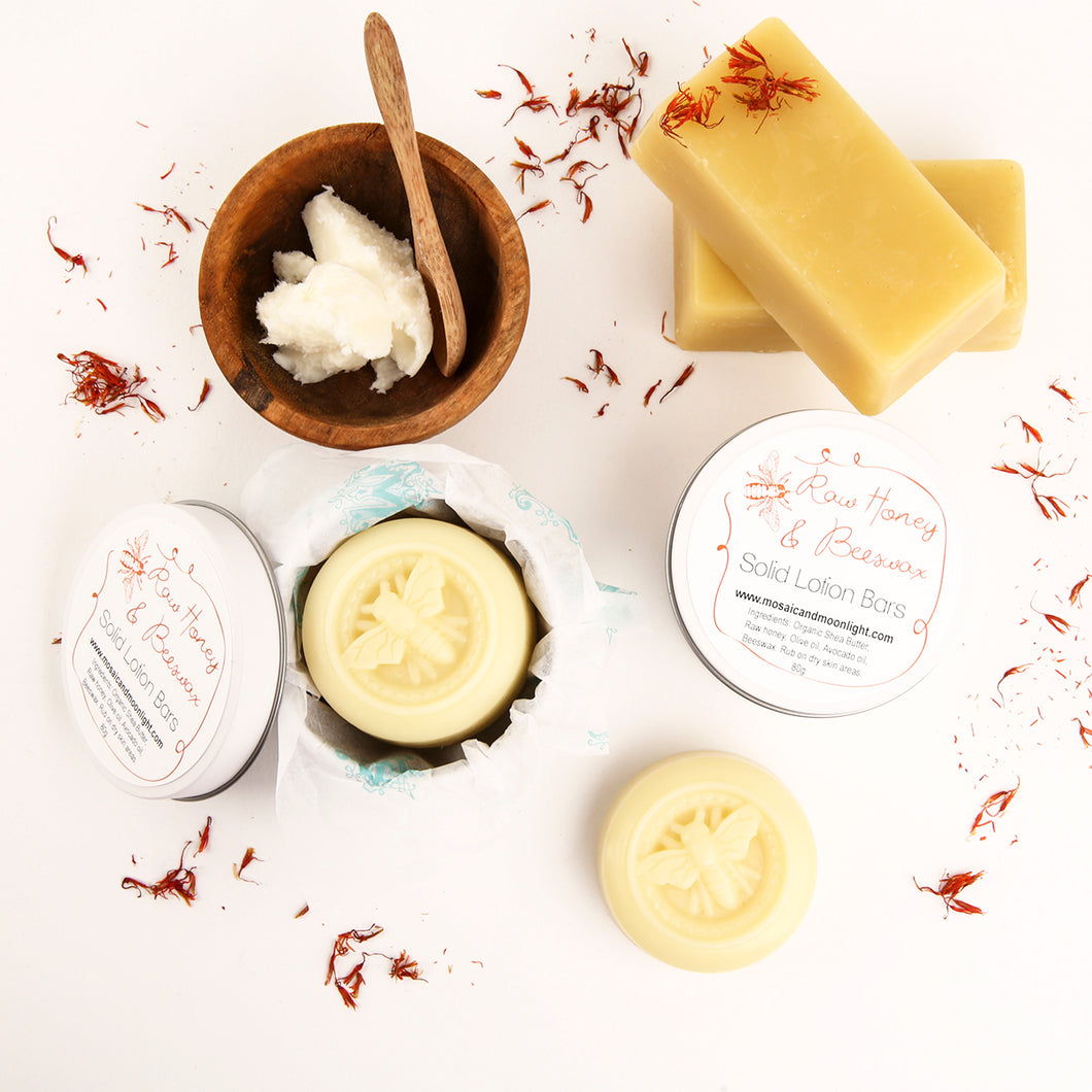 Solid Lotion Bars- Raw Honey