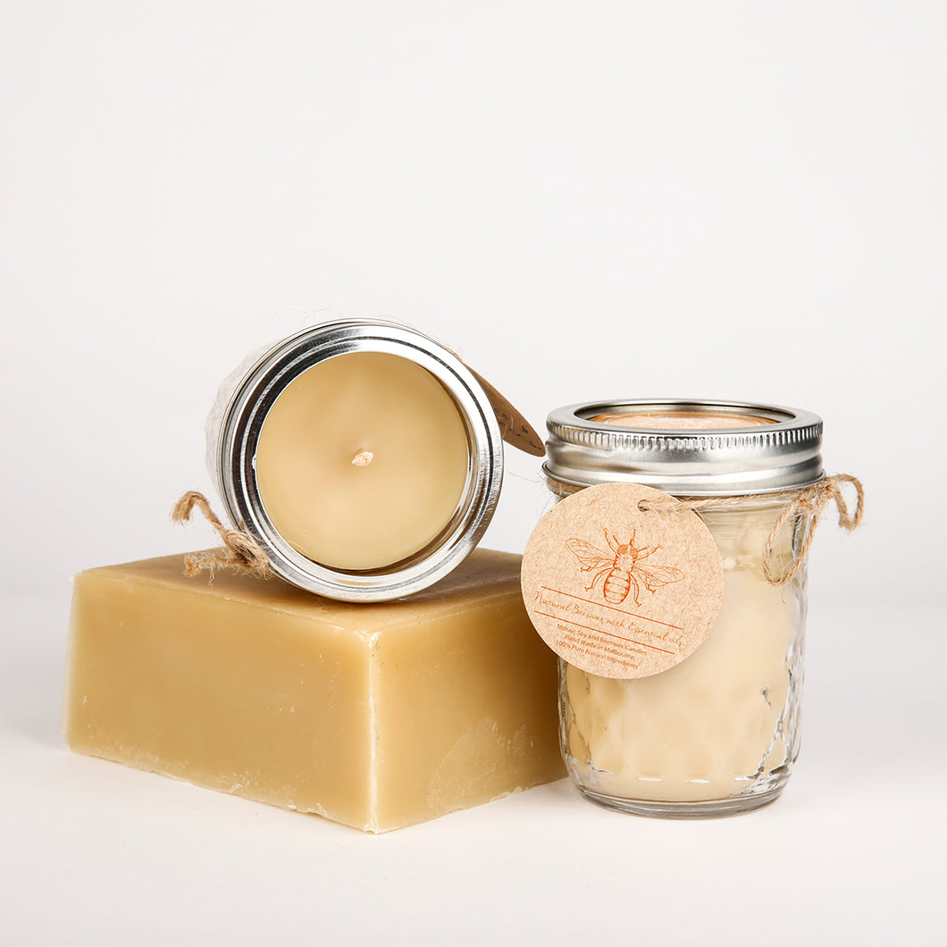 Beeswax Candle Lemon & Cedarwood 240g