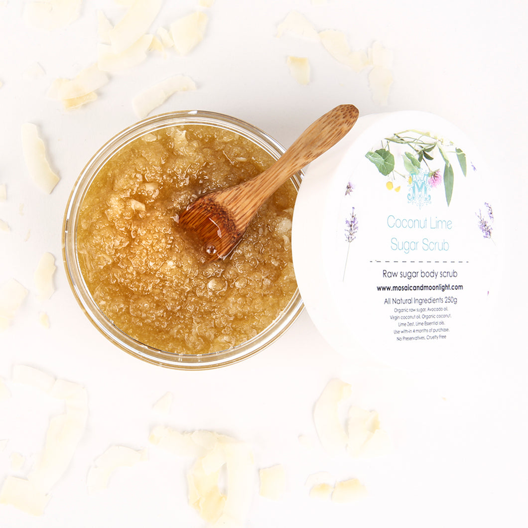 Raw Sugar Scrub Coconut Lime 250g