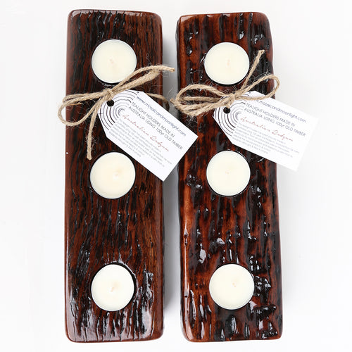 Redgum Timber Tealight Holder *ON SALE 20% OFF