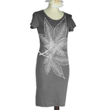 Japanese Maple Leaves Bamboo T-Shirt Dress - Made to Order - Yay for Fidget Art!